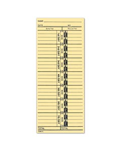 "Manual Time Clock Card TC-1  3-1/2"" x 8-1/2"""