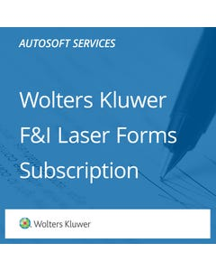 Wolters Kluwer F&I Laser Forms Subscription