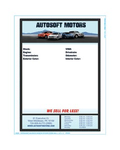 Autosoft Window Sticker - Full Color