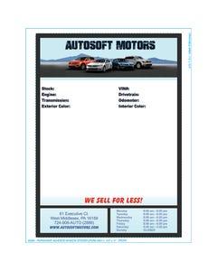 Autosoft Window Sticker - Full Color