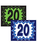 Blast Year Window Stickers - 12 Pack