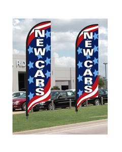 Patriotic Message Feather Flag Kit