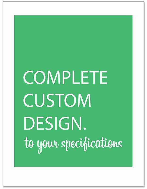Custom Poly-Back Paper Floor Mats - Complete Custom Design