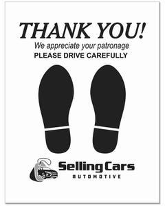 Custom Premium Heavy Duty Floor Mats-Thank You Footprint