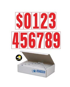 "5-1/2""  Red & White Windshield Numbers Kit"