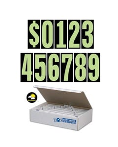 "5-1/2""  Chartreuse & Black Windshield Numbers Kit"