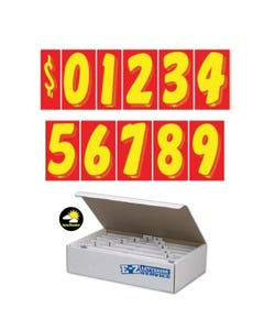 "7-1/2""  Yellow & Red Windshield Numbers Kit"