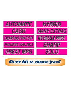 "15"" Fluorescent Pink Window Slogans"