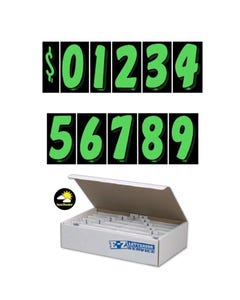 "7-1/2"" Green & Black Windshield Numbers Kit"