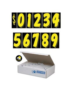 "7-1/2""  Yellow & Black Windshield Numbers Kit"