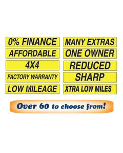 "15"" Yellow & Black Window Slogans"