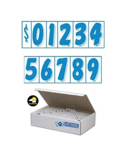 "7 1/2"" Blue & White Windshield Numbers Kit"