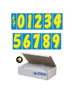 "7 1/2""  Blue & Yellow Windshield Numbers Kit"