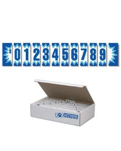 Blue Explosion Windshield Numbers Kit