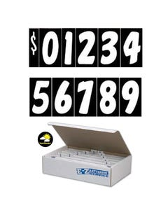 "7 1/2""  White & Black Windshield Numbers Kit"