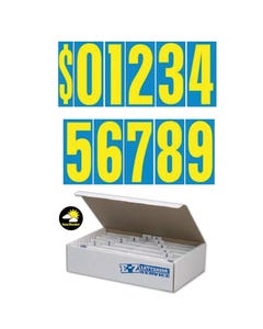 "9 1/2""  Yellow & Blue Windshield Numbers Kit"