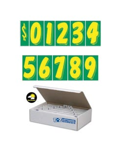 "7 1/2""  Yellow & Green Windshield Numbers Kit"