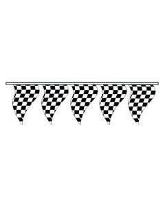 Cloth Checkered Triangle Pennants