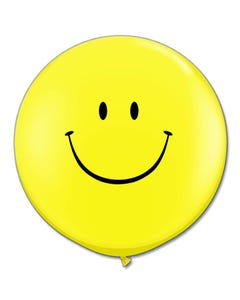 3ft Happy Face Latex Balloon