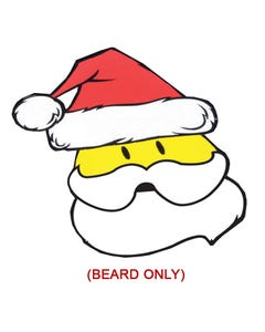 Holiday Santa Beard Decal