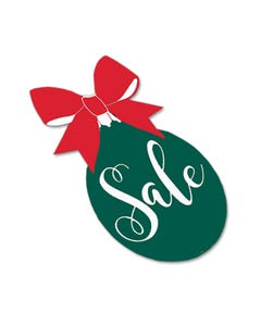 Holiday Green Ornament Decal