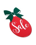 Holiday Red Ornament Decal