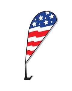 Stock Message Clip-On Paddle Flag Kit