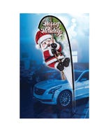 12ft Holiday 3D Teardrop Flags