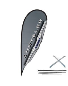 12ft Manufacturer 3D Teardrop Flag Kit w/Cross Base