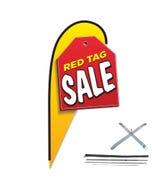 12ft Message 3D Teardrop Flag Kit w/Cross Base