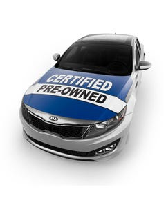 Car Hood Cover - Certified Pre-Owned Blue