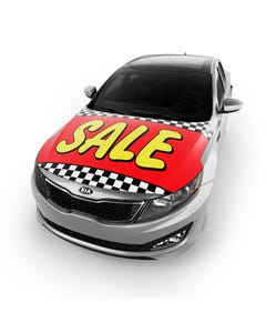 Car Hood Cover - Sale Red