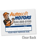 Autosoft Clear LOF Label