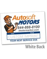 Autosoft White LOF Label