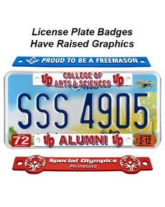 License Plate Badges - Auto Dealers