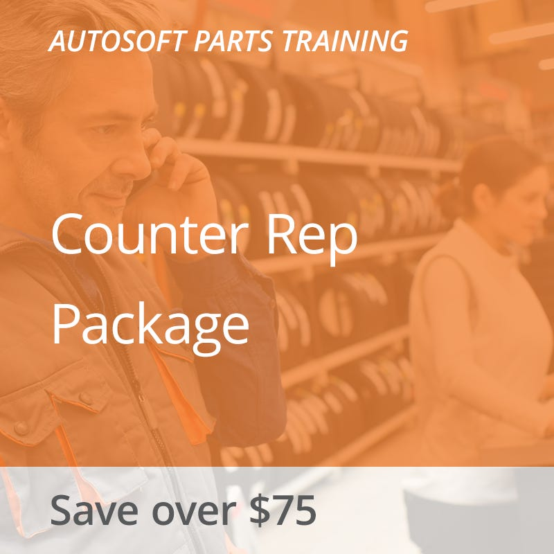 Autosoft Training: Counter Rep Package