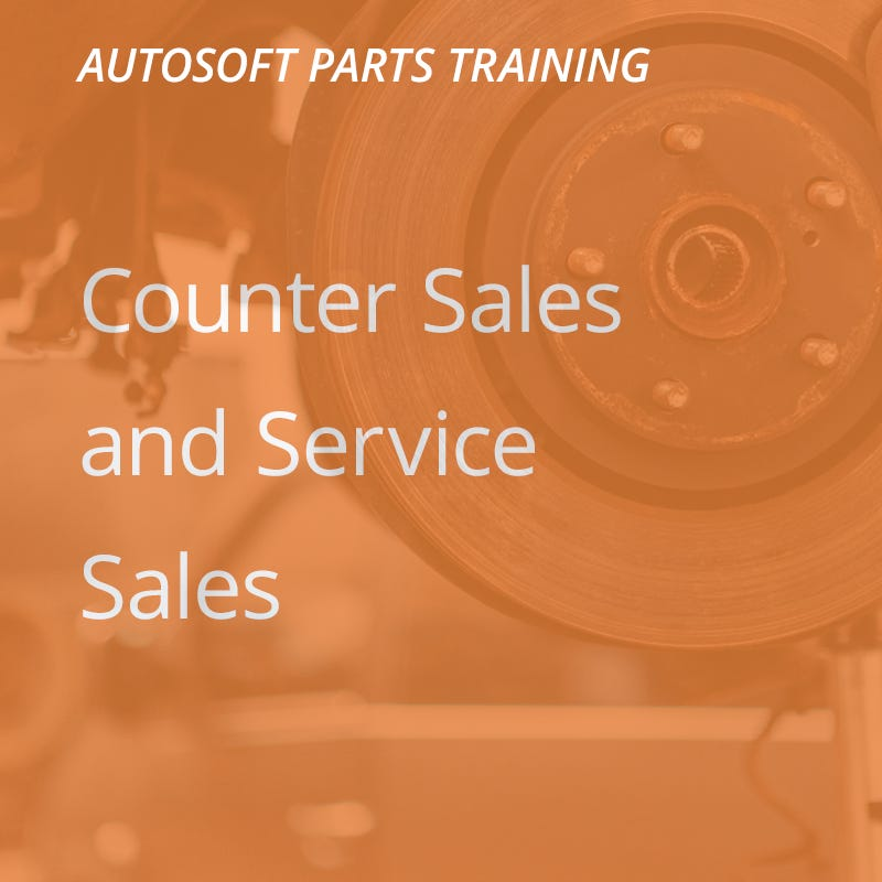 Autosoft Training: Counter Sales & Service Sales