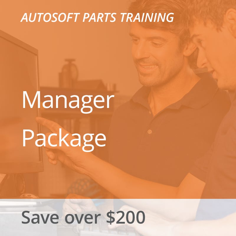 Autosoft Training: Parts Manager Package
