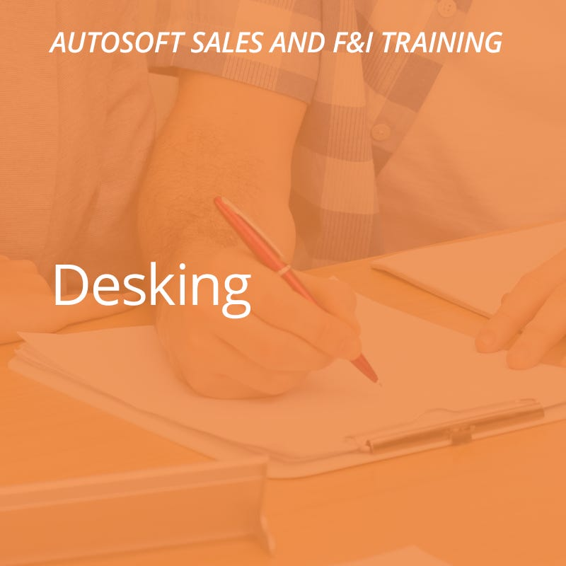 Autosoft Training: Desking
