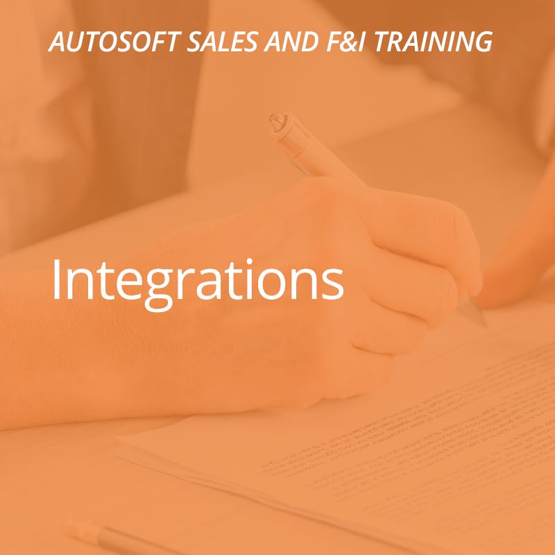 Autosoft Training: Integrations