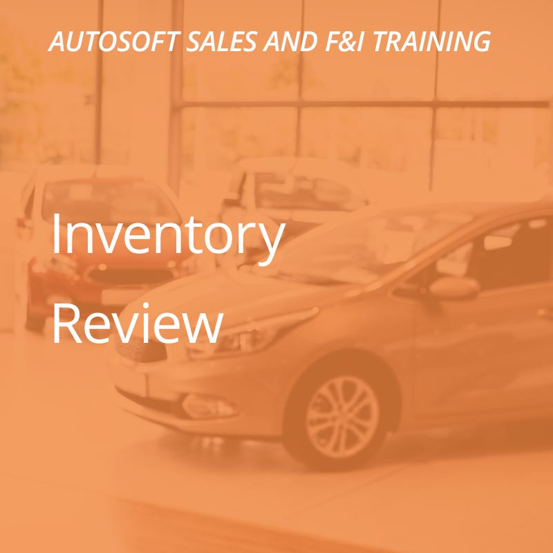 Autosoft Training: Inventory Review