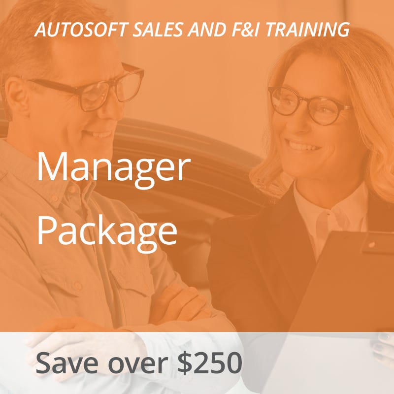 Autosoft Training: Sales and F&I Manager Package