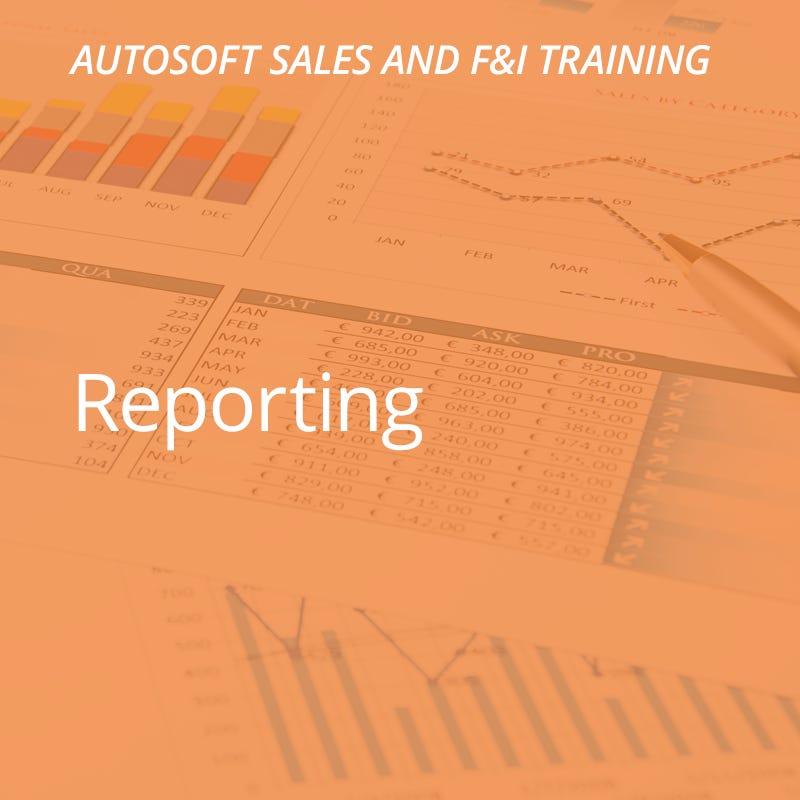 Autosoft Training: Reporting