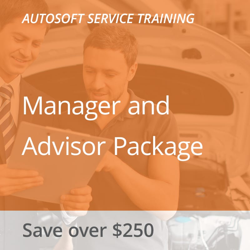 Autosoft Training: Manager and Advisor Package