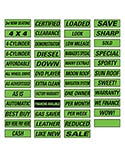 Slogan Window Stickers - 12 Pack