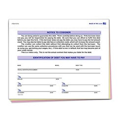 Notice To Cosigner Form