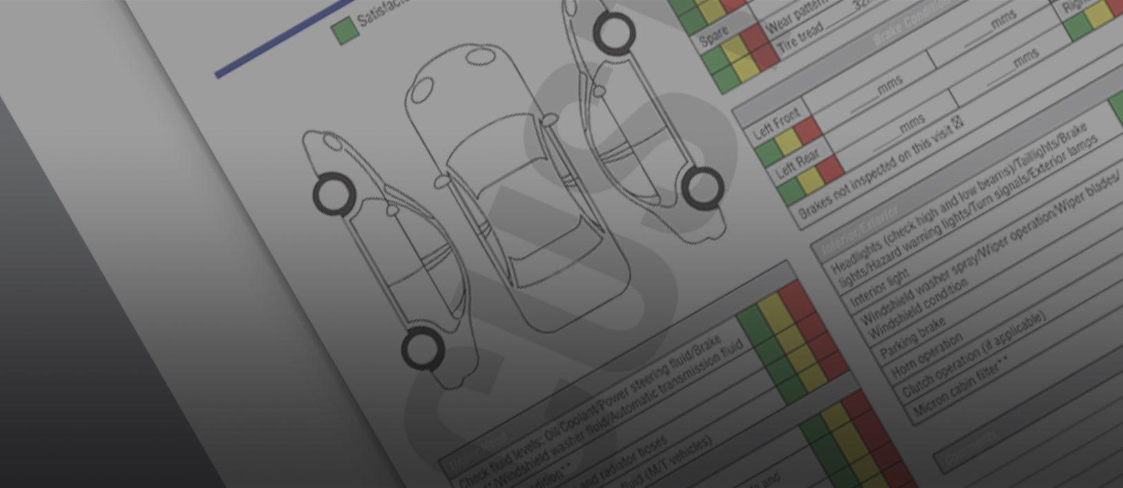 Multi-Point Inspection Sheets   Auto Dealer Supplies