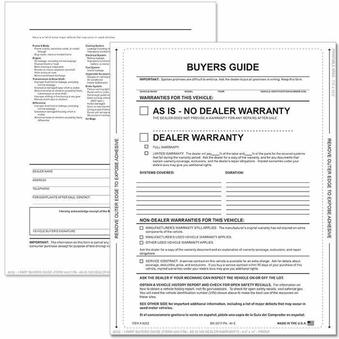 Buyers Guide for Cars
