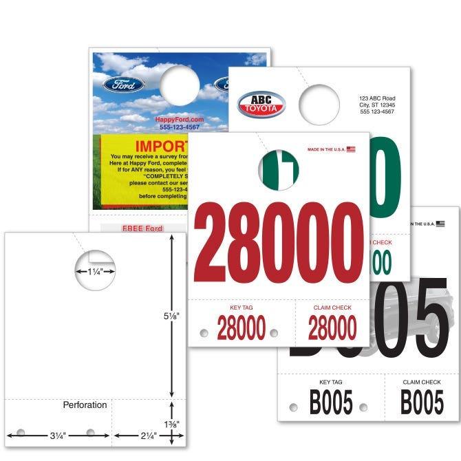 Custom Auto Service Dispatch Tags